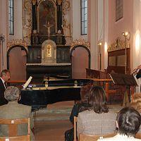 Pelhřimov, kostel sv. Víta, 12.5.2009, s M. Rezkem