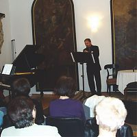 Milevsko, Latinská škola, 20.3.2011, s G. Molovou
