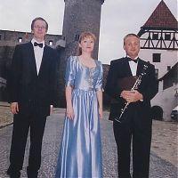 With K. Novotna and D. Wiesner, castle Strakonice, summer 2004
